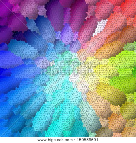 Abstract coloring background of the spectrum gradient with visual lighting,mosaic,pinch and stained glass effects.Good for your project design