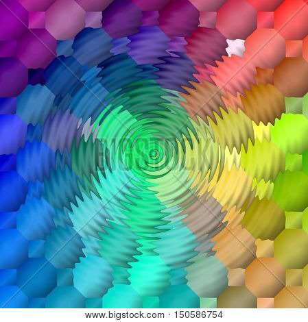 Abstract coloring background of the spectrum gradient with visual lighting,mosaic and zigzag effects.Good for your project design