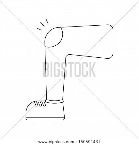 Leg with knee injury icon cartoon - healtcare.