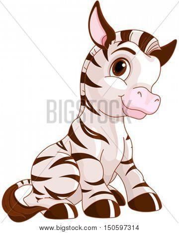 Illustration of very cute Zebra