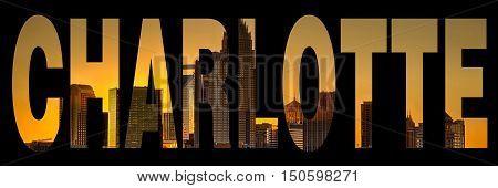 skyline of charlotte city on north carolina