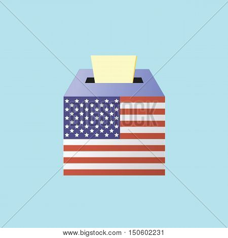 Voting Concept By Putting Paper In The Ballot Box Usa