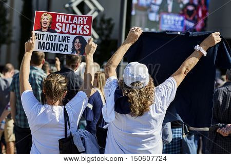 Donald Trump Presidential Campaign Rally Supporters