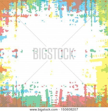 Color Grunge Frame Abstract Texture