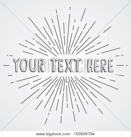 Sunrays Greetings Theme Vector Art Illustration