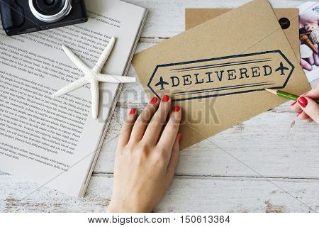 Mail Deliver Delivered Documents Concept