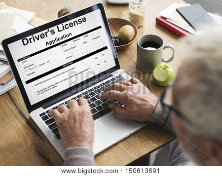 Driver License Application Permission Form Concept