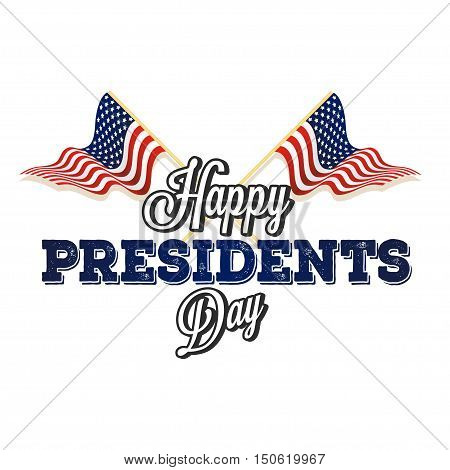 Happy presidential elections on a white background Vector illustration