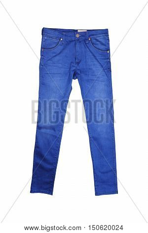 Isolated Blue jeans, Blue jeans on white background