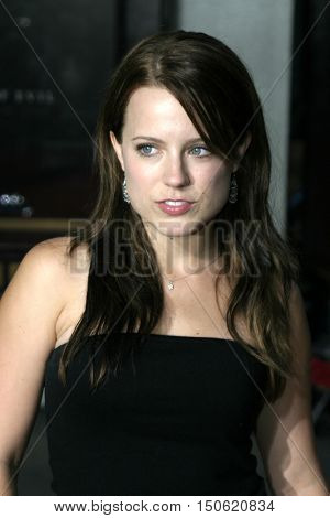 Allison Munn at the Los Angeles premiere of 'Exorcist: The Beginning' held at the Grauman's Chinese Theatre in Hollywood, USA on August 18, 2004.