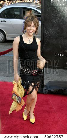 Ashley Peldon at the Los Angeles premiere of 'Exorcist: The Beginning' held at the Grauman's Chinese Theatre in Hollywood, USA on August 18, 2004.