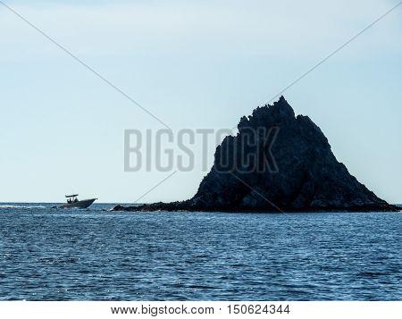 motor boat on the sea