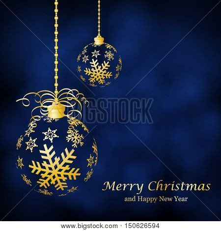Abstract Christmas ball cut from paper on background. Vector illustration