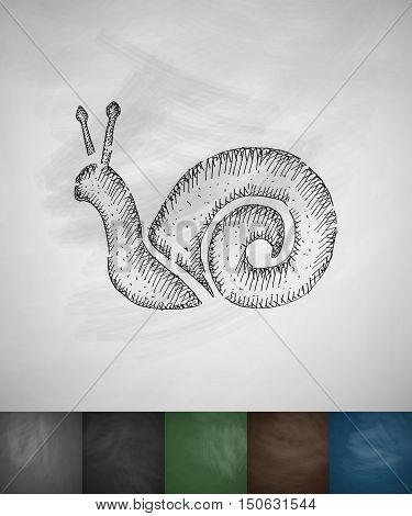 cochlea icon. Hand drawn vector illustration. Chalkboard Design