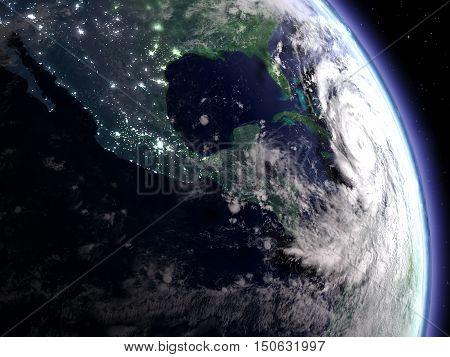 Hurricane At Night