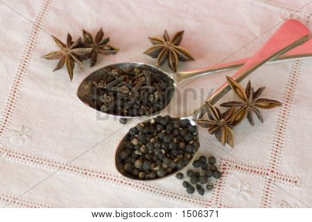 Spices, Spoons And Linen