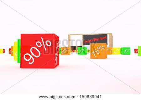 Discount Day. Discounts interest holiday. 3d illustration
