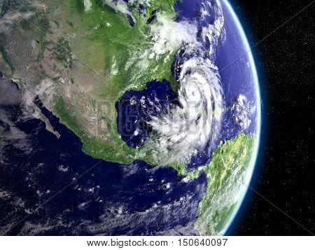 Hurricane Above Florida