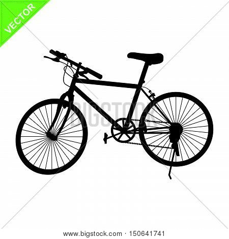 Bicycle silhouette vector, mountain bike silhouette vector