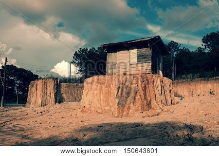 Lonely Old Wooden House
