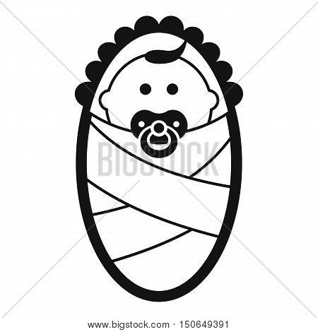 Newborn icon in simple style on a white background vector illustration