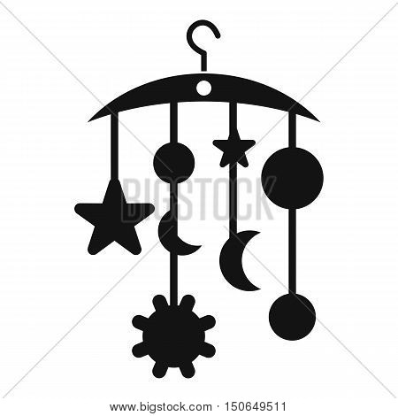 Baby bed carousel icon in simple style on a white background vector illustration