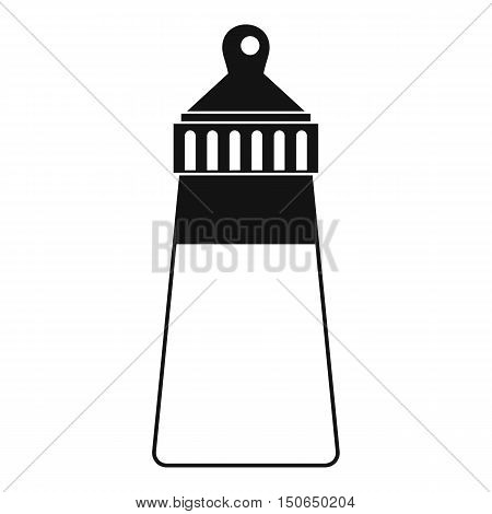 Baby milk bottle icon in simple style on a white background vector illustration