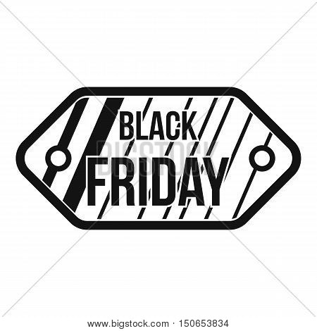 Black Friday sale tag icon in simple style on a white background vector illustration