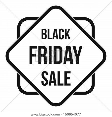 Black Friday sale sticker icon in simple style on a white background vector illustration