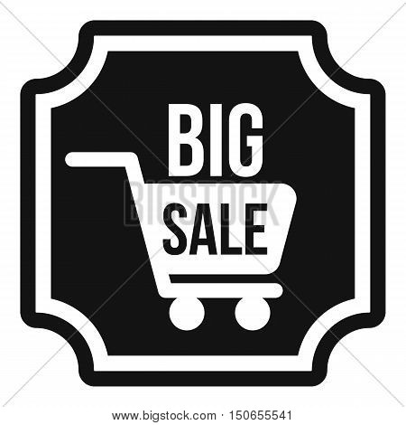 Big sale sticker icon in simple style on a white background vector illustration