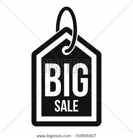 Big sale tag icon in simple style on a white background vector illustration