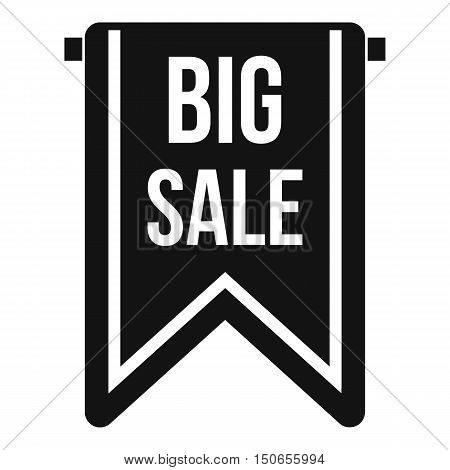 Big sale banner icon in simple style on a white background vector illustration