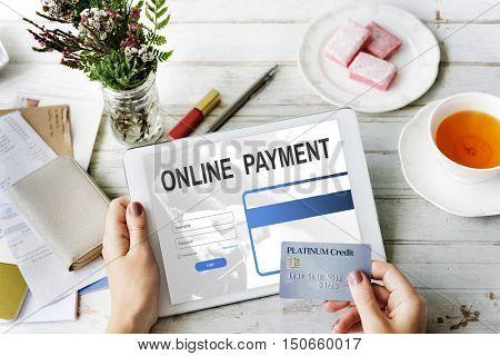 Online Payment Benefits Internet Technology Concept