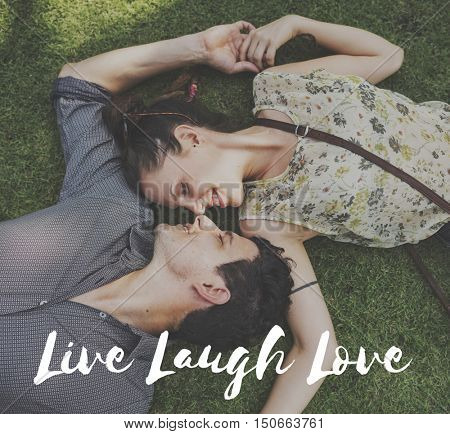 Live Life Enjoy Vital Being Alive Laugh Love Concept