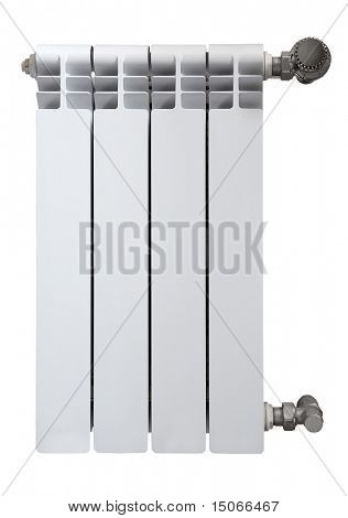 radiator isolated on white background with clipping path