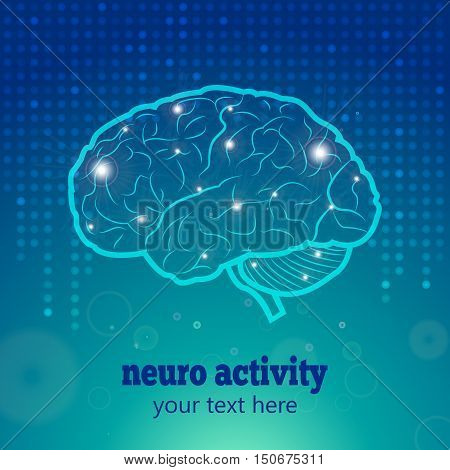 Human Brain Neurology Anatomical Conception Vector Illustration