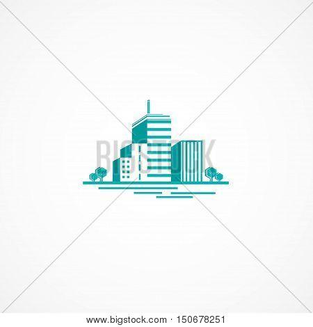 Original picture real estate agency vector .
