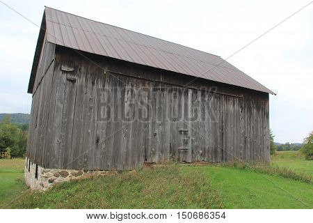 A weathered wooden barn in Sleeping Bear Dunes National Lakeshore, Michigan