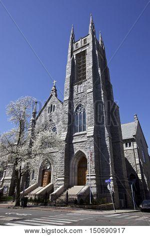 Stone Catholic Church in Stamford, CT, USA