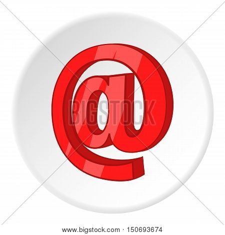 Sign e-mail icon in cartoon style isolated on white circle background. Send letters symbol vector illustration