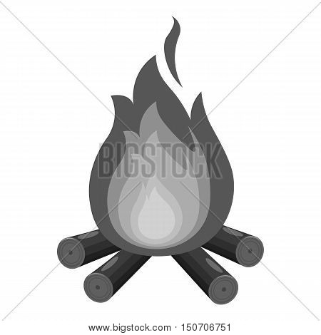 Campfire with firewood icon of vector illustration for web and mobile design