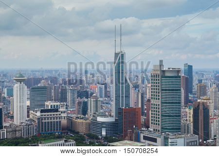 Pudong area in Shanghai. Having started its development in 1980s on site of rice fields, 15 years of Pudong has become financial and business center of whole of China