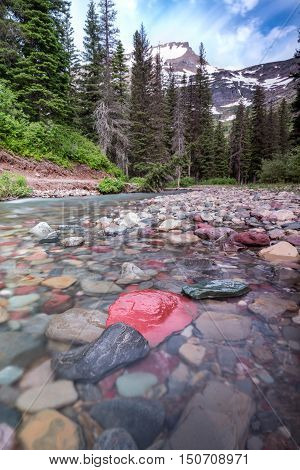 Rocks In Creek Below Mount Grinnell