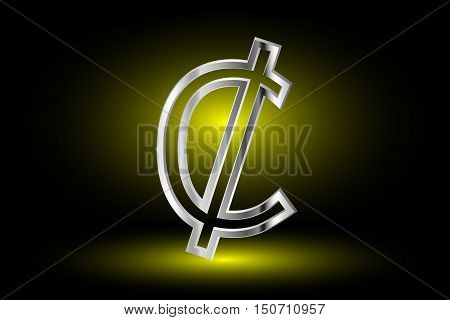 Cent vector icon , Cent , Cent symbol ,