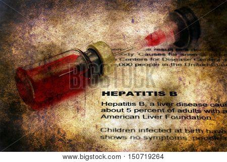 Hepatitis B Grunge Concept