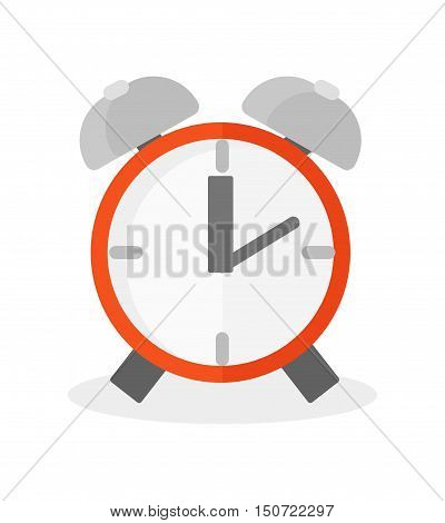 Clock watch alarm vector icon object illustration. Clock icon isolated on background. Watch silhouette modern style alarm. Time symbol