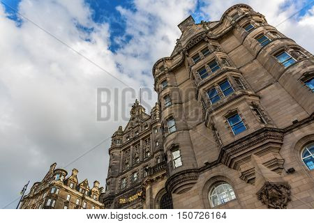 Facade Of The Scotsman Hotel Edinburgh