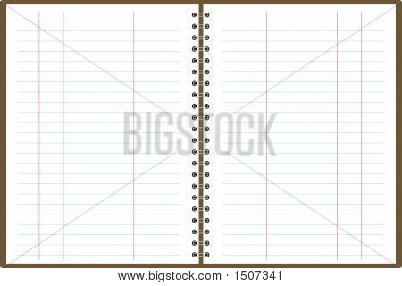 A binder note pad in white paper that can be used for accounts poster