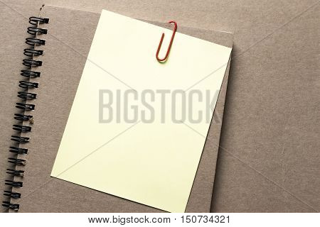 blank paper book on table / for write text or artwork