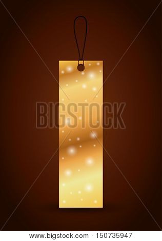 Bookmark label tag with stars icon. Guidebook decoration reading and literature  theme. Colorful design. Vector illustration